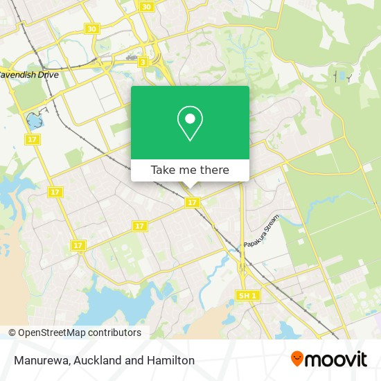 Manurewa map