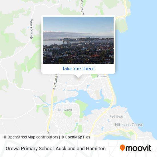 Orewa Primary School map