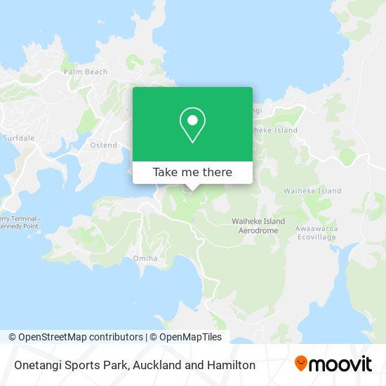 Onetangi Sports Park map