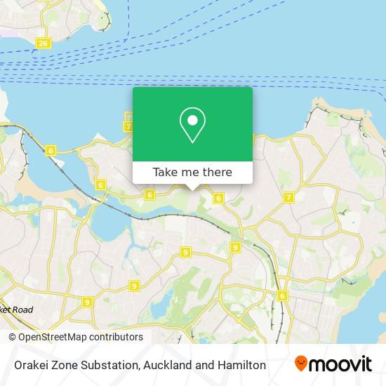 Orakei Zone Substation map
