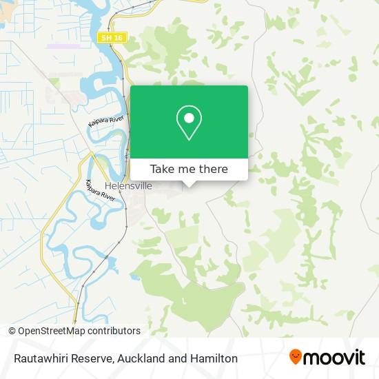 Rautawhiri Reserve map