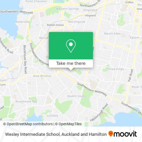 Wesley Intermediate School map