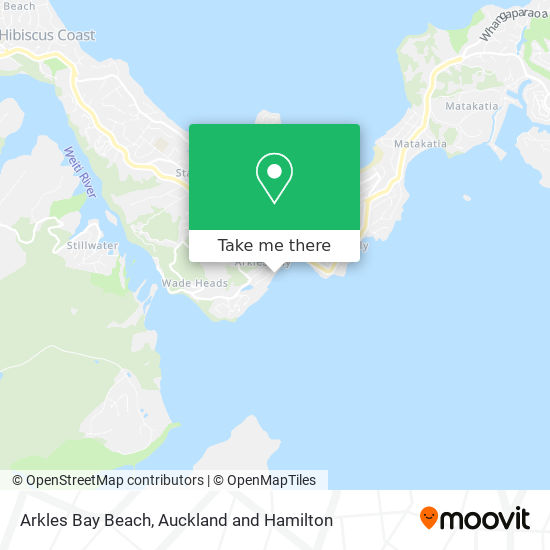 Arkles Bay Beach map