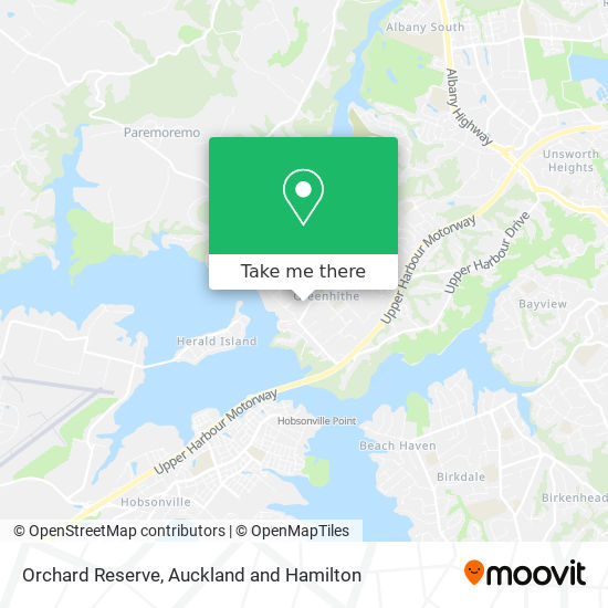 Orchard Reserve map