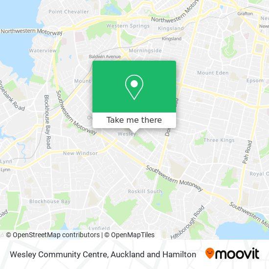 Wesley Community Centre map