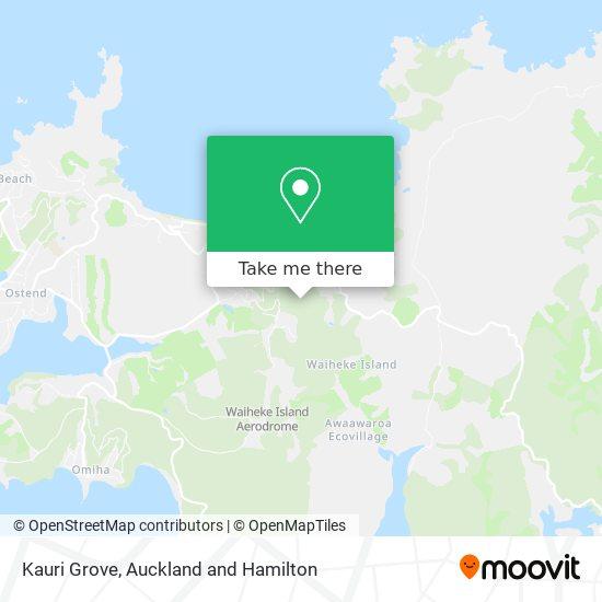 Kauri Grove map