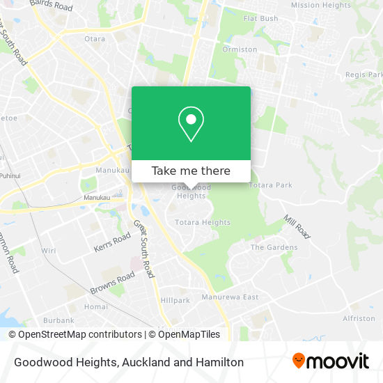 Goodwood Heights map