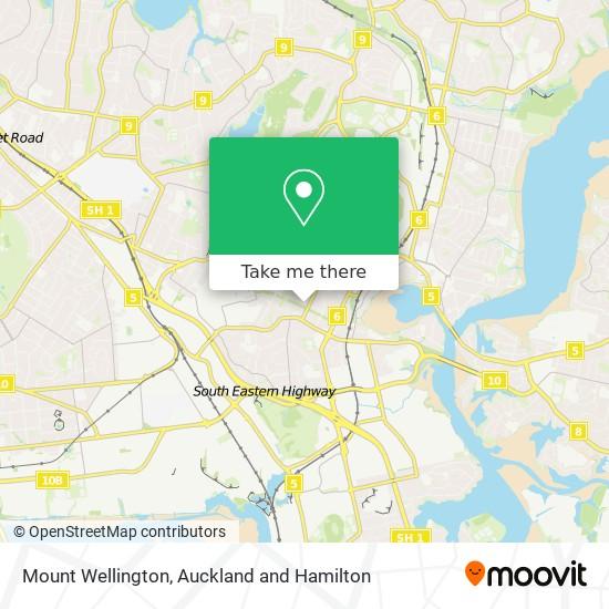 Mount Wellington map