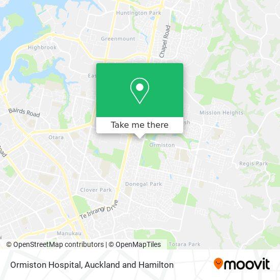 Ormiston Hospital map