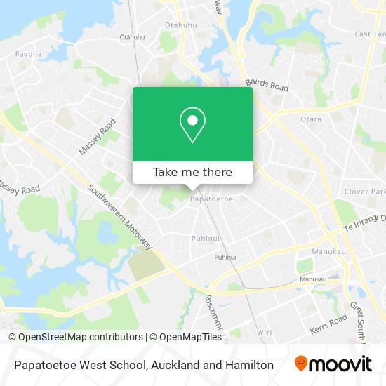 Papatoetoe West School map