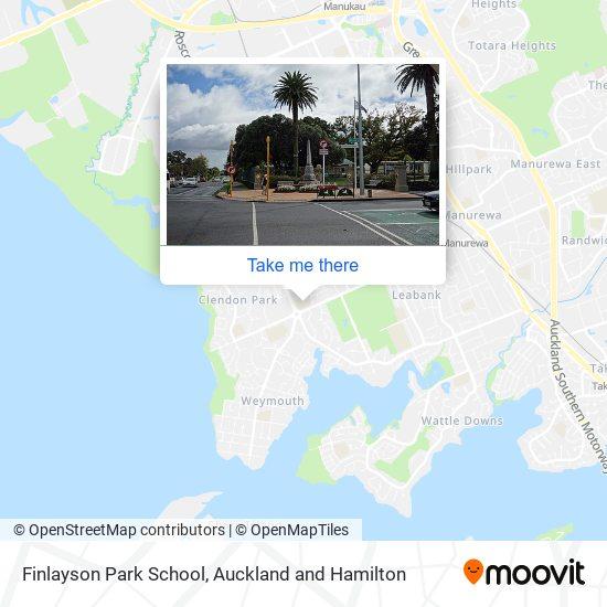 Finlayson Park School map