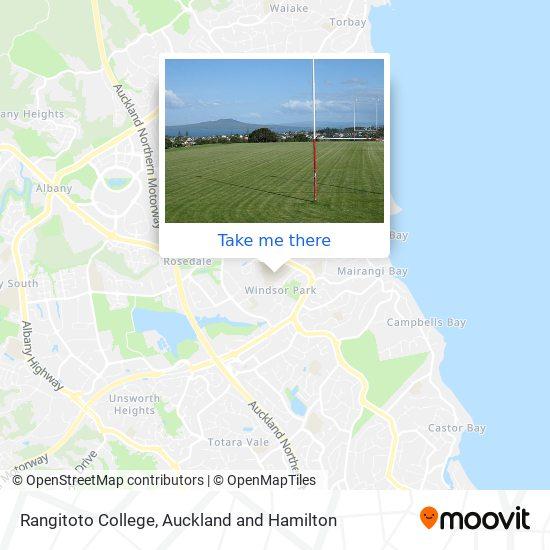 Rangitoto College map