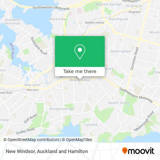 New Windsor map