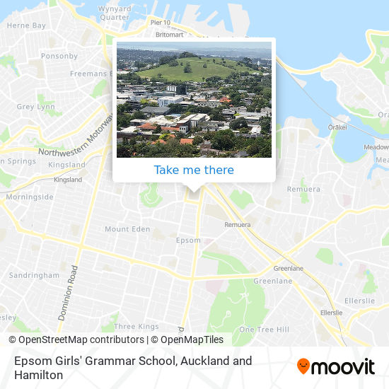Epsom Girls' Grammar School map