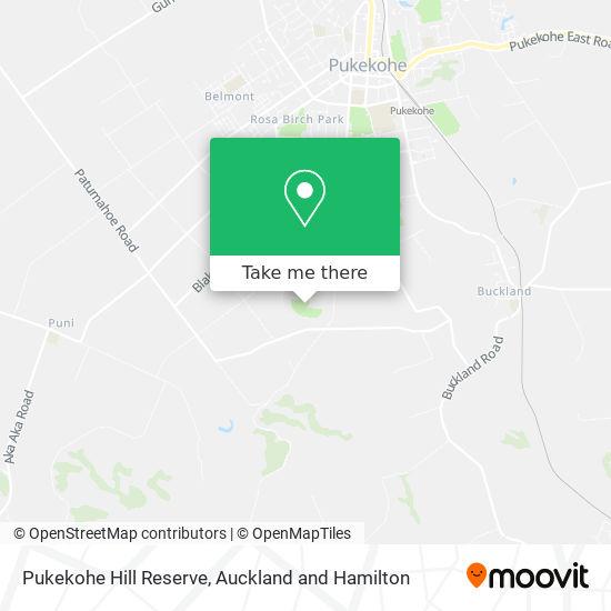 Pukekohe Hill Reserve map