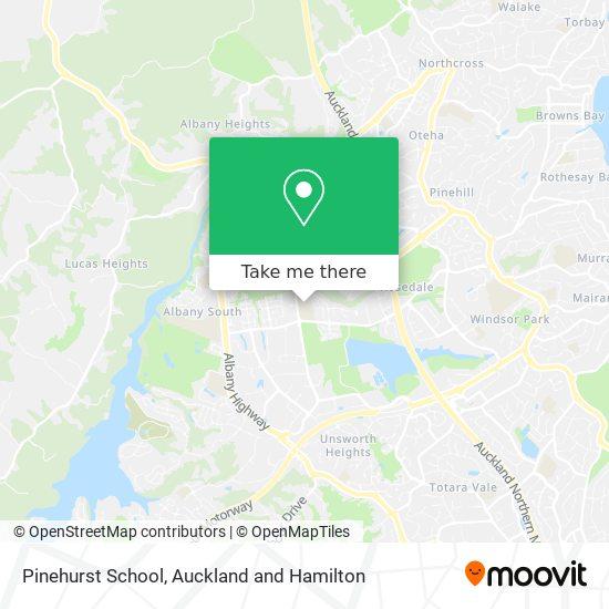 Pinehurst School map
