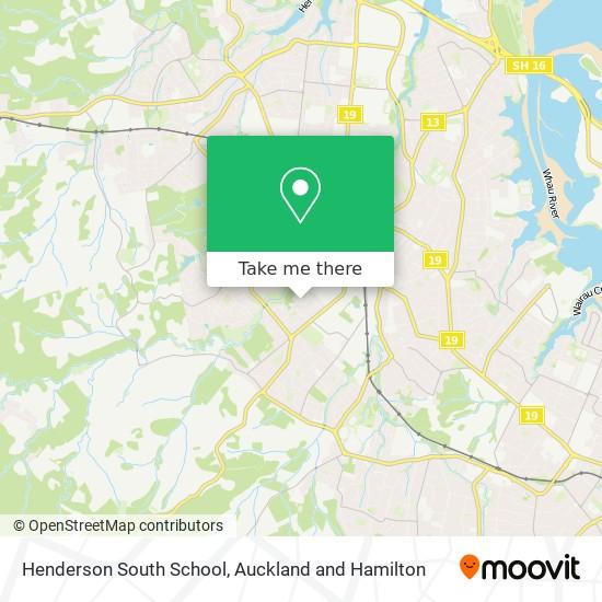 Henderson South School map