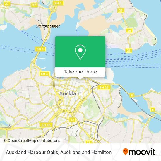 Auckland Harbour Oaks map