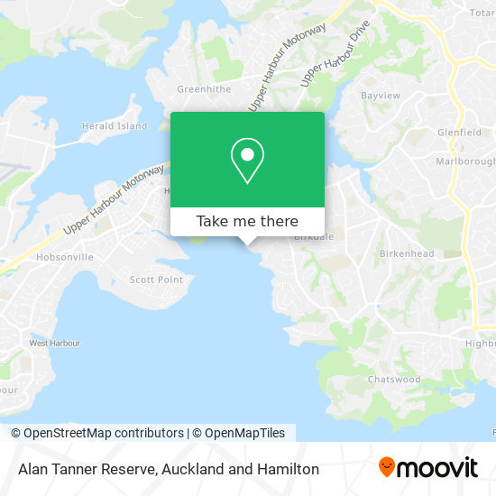 Alan Tanner Reserve map