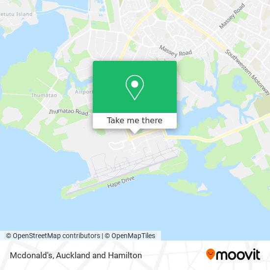 Mcdonald's Auckland Airport map
