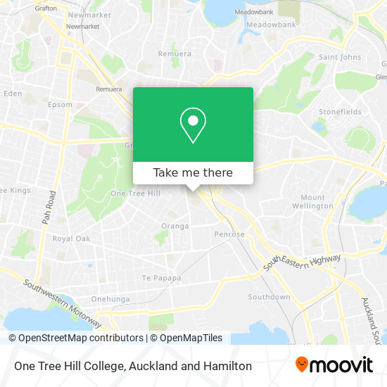One Tree Hill College map