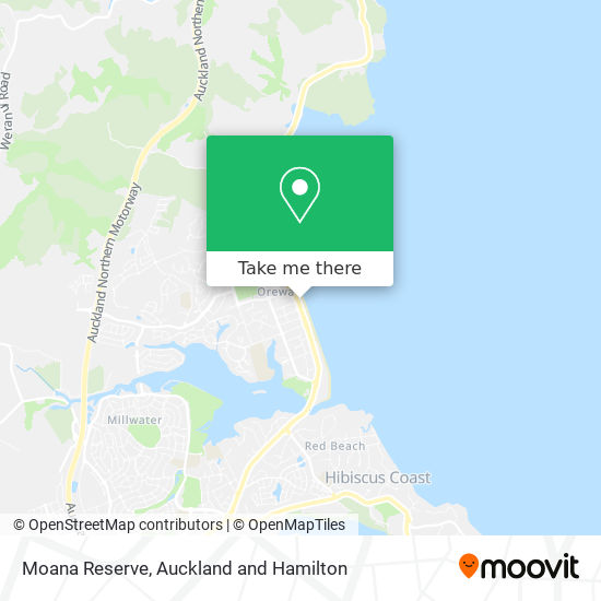 Moana Reserve map