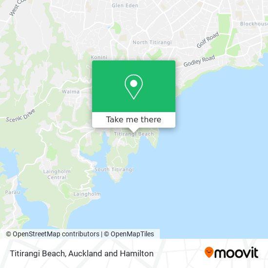 Titirangi Beach map