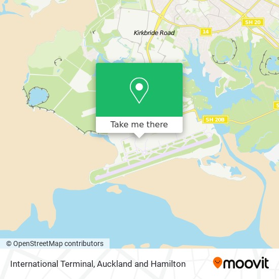 International Terminal map