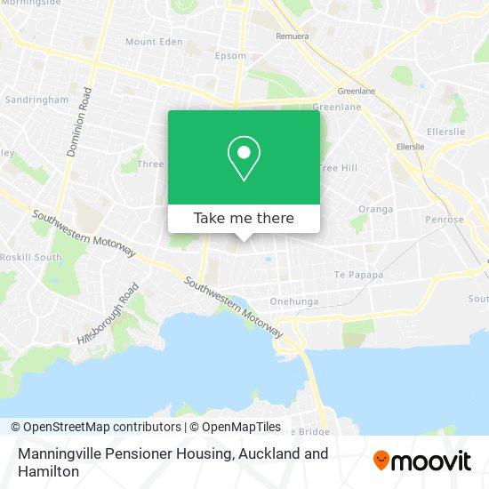 Manningville Pensioner Housing map