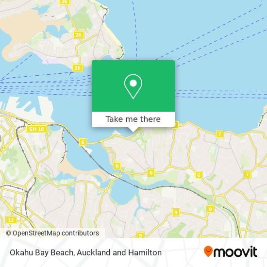 Okahu Bay Beach map