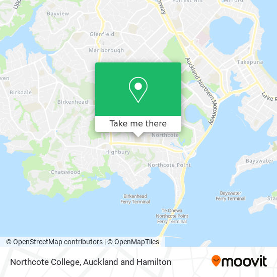 Northcote College map