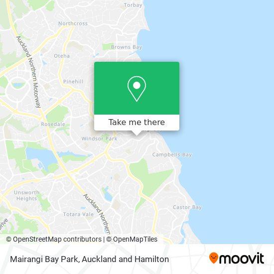 Mairangi Bay Park map