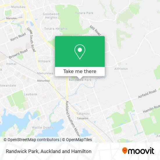 Randwick Park map