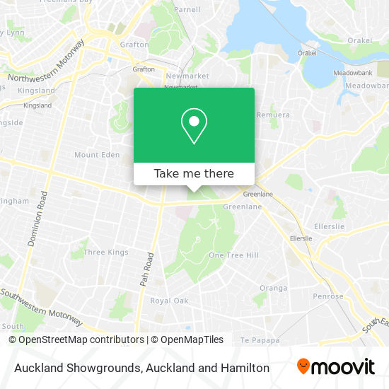 Asb Showgrounds map