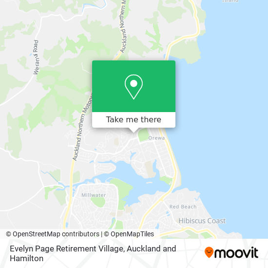 Evelyn Page Retirement Village map