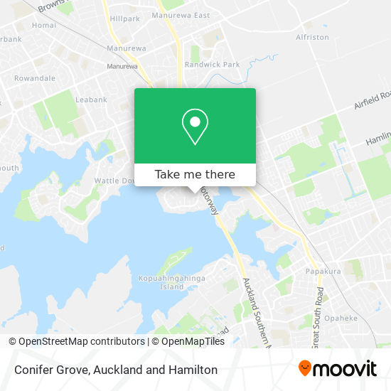 Conifer Grove map