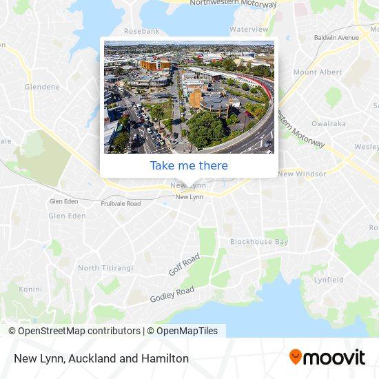 New Lynn Transport Centre map