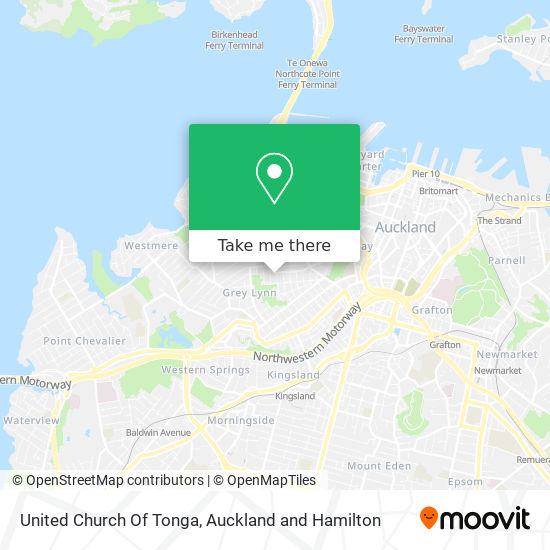 United Church Of Tonga map