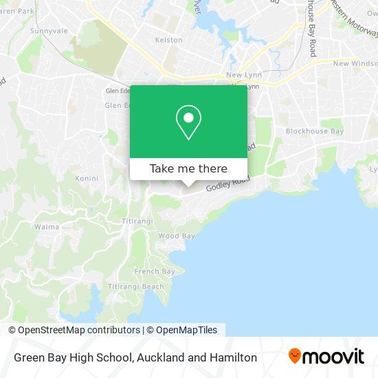 Green Bay High School map