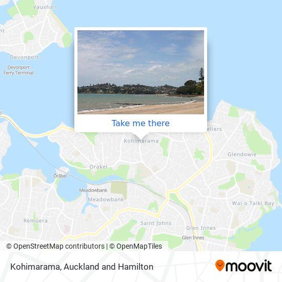 Kohimarama map