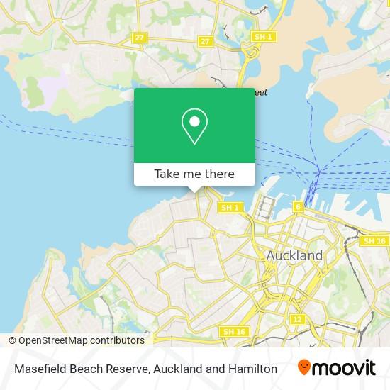Masefield Beach Reserve map