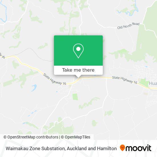 Waimakau Zone Substation map