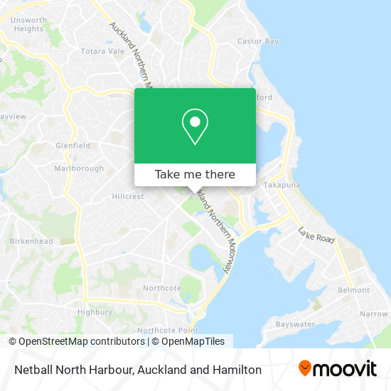 Netball North Harbour map