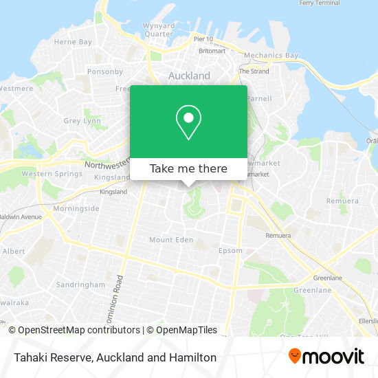 Tahaki Reserve map