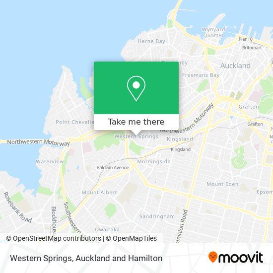Western Springs map