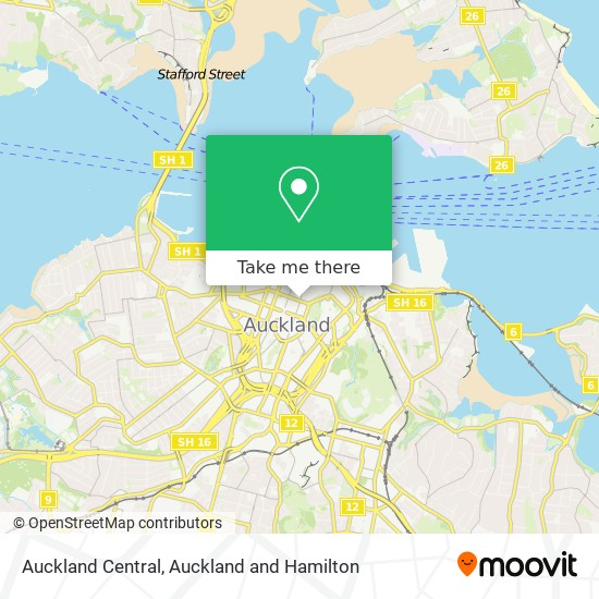 Auckland Central map