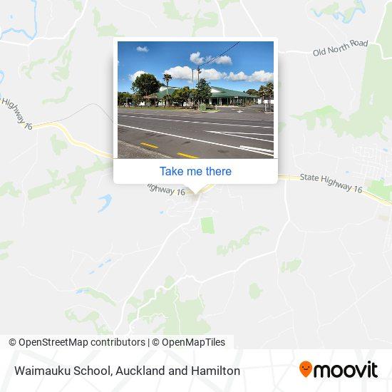 Waimauku School map