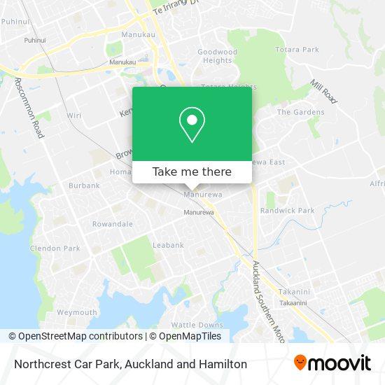 Northcrest Car Park map