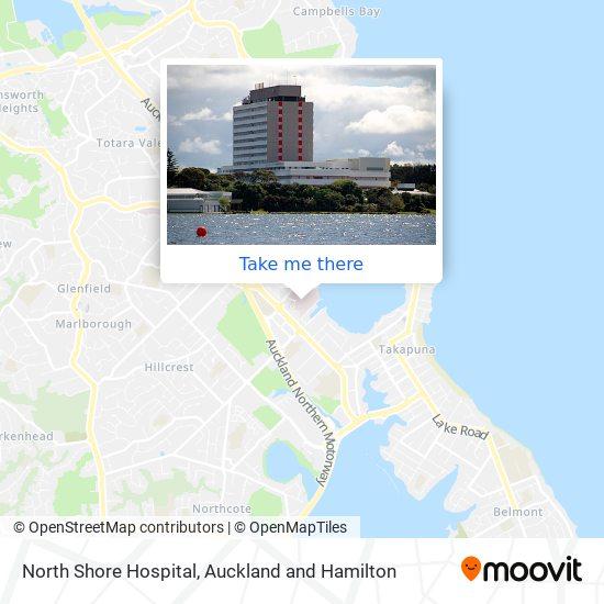 North Shore Hospital map