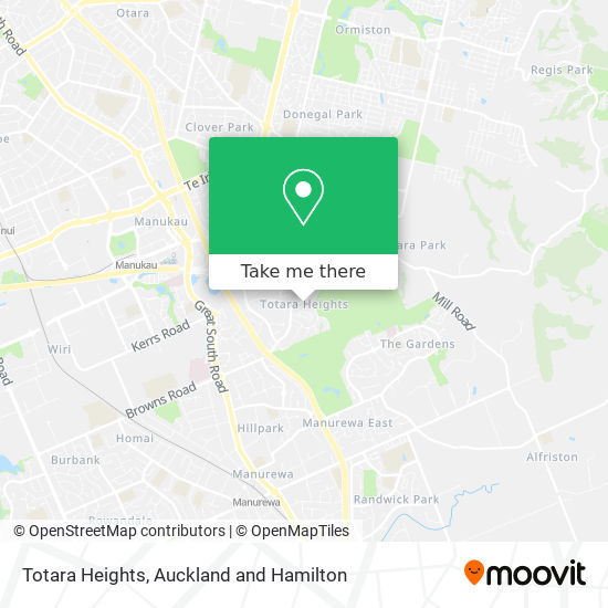 Totara Heights map